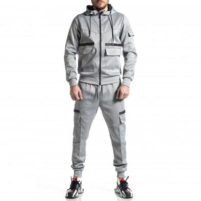 Мъжки сив спортен комплект 7джоба it010221-56 2