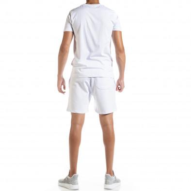 Бял мъжки спортен комплект Moon tr010720-1 3