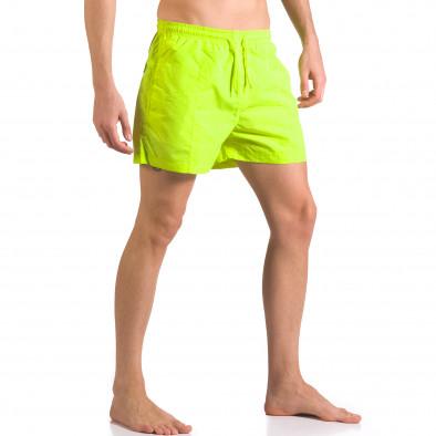 Ярко зелени мъжки бански шорти с удобни джобове ca050416-18 4