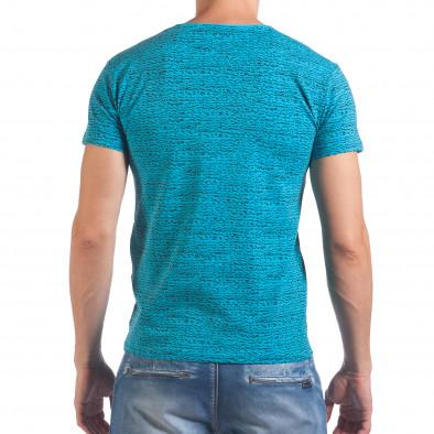 Мъжка синя тениска с надпис и номер 27 Lagos 4