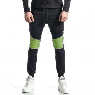 Мъжки черно-зелен анцуг Biker style it010221-58 5