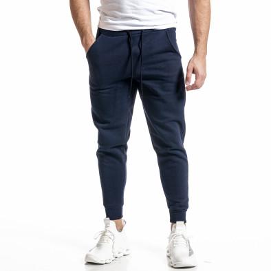 Basic мъжко памучно долнище в синьо it231220-31 2