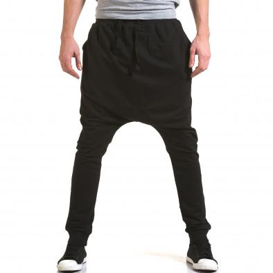 Мъжки черни потури с много смъкнато дъно Dress&GO 5