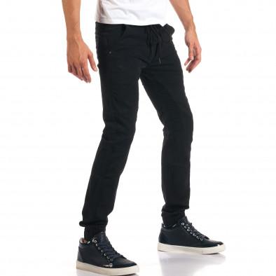 Мъжки черни дънки с връзки на кръста it160916-13 4