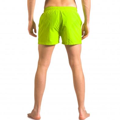 Мъжки ярко зелени бански тип шорти с джобове ca050416-9 3