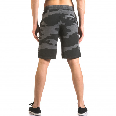 Мъжки къси панталони тип шорти сив камуфлаж ca050416-47 3