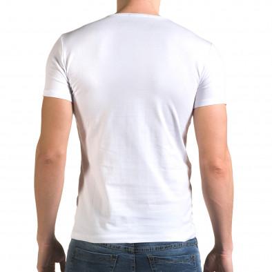 Мъжка бяла тениска с Мики Маус Lagos 4