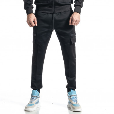 Мъжки черен спортен комплект 7джоба it010221-55 5