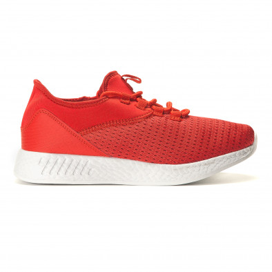 Мъжки червени маратонки от лека материя Naban 5