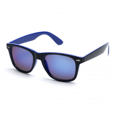 Мъжки сини слънчеви очила със сини огледални стъкла it260416-1 2