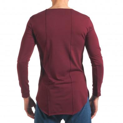 Мъжка червена блуза с дълъг ръкав и метални капси it250416-80 3