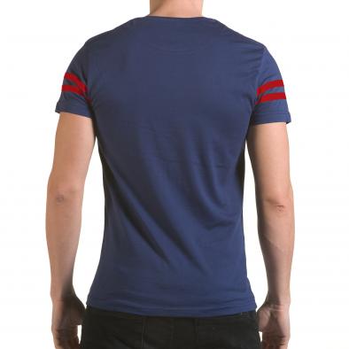 Мъжка синя тениска с голям номер 9 il170216-20 3