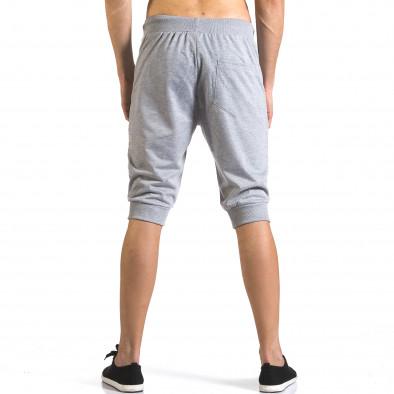 Мъжки сиви къси потури с ципове на джобовете it110316-84 3