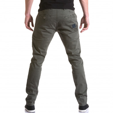 Мъжки зелен панталон с декоративни кръпки it031215-17 3