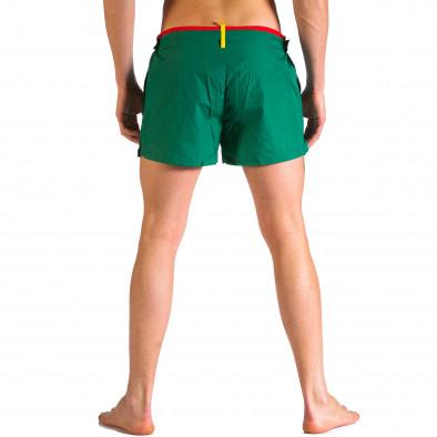 Мъжки зелени бански с бандаж it250416-65 3
