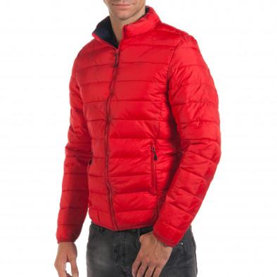 Мъжко червено пролетно-есенно яке със синя подплата it190616-19 4