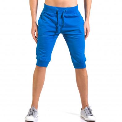 Мъжки сини къси потури класически модел Dress&GO 5
