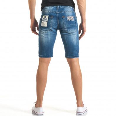 Мъжки къси дънки с разноцветни кръпки it140317-164 3