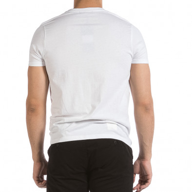 Мъжка бяла тениска с принт it040621-11 4