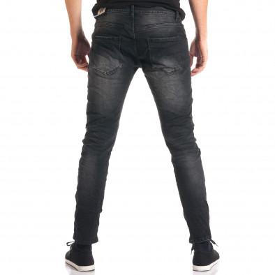 Мъжки тъмно сиви дънки с декоративни кръпки ca280916-2 3