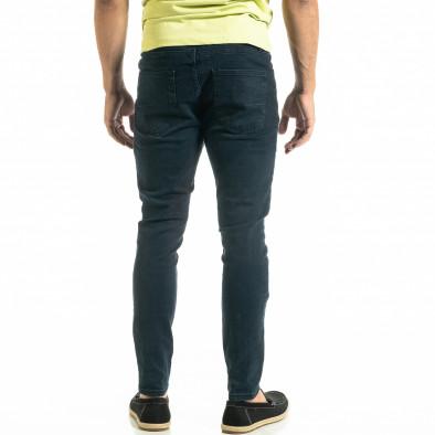 Мъжки сини дънки Basic Slim fit tr020920-10 4