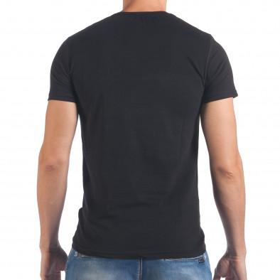 Мъжка черна тениска Last Round il060616-73 3