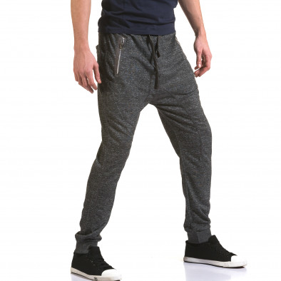 Мъжки тъмно сиви потури с ципове на джобовете Dress&GO 5