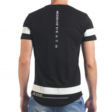 Мъжка черна тениска Saw to Dust il060616-20 3
