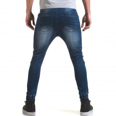 Мъжки дънки с кройка на потури с хоризонтални шевове it090216-19 3