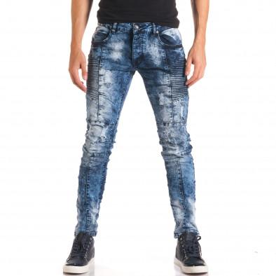 Мъжки дънки с допълнителни шевове it150816-9 2