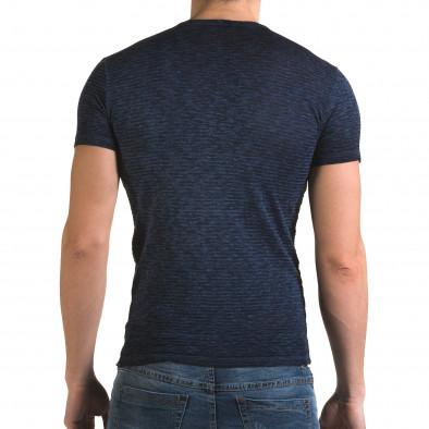 Мъжка синя тениска със звезди il120216-48 3