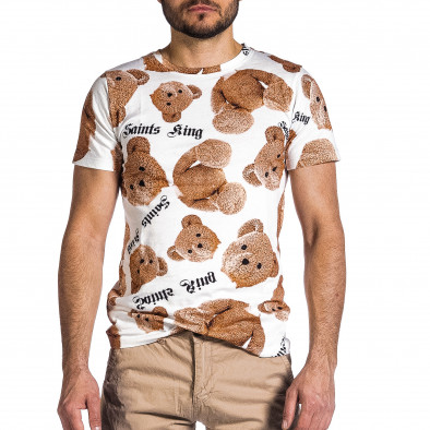 Мъжка тениска Teddy Bear в бяло it200421-1 3