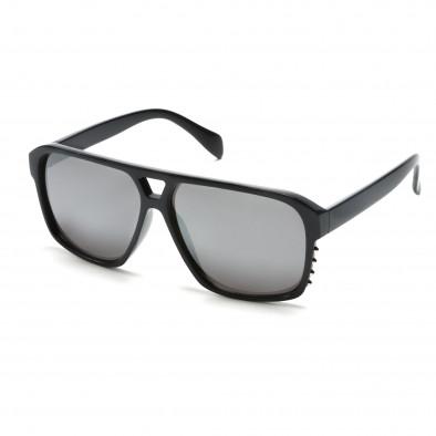 Мъжки тъмно сини слънчеви очила с метални детайли it151015-19 2