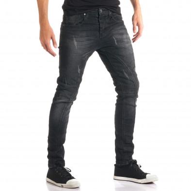 Мъжки тъмно сиви дънки с допълнителни шевове tsf210916-11 4