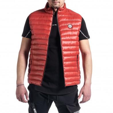 Капитониран мъжки червен елек с лого it270221-60 2