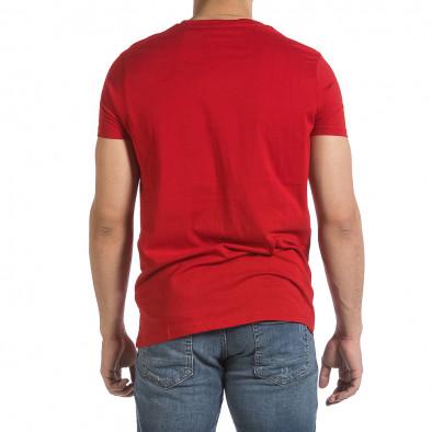 Мъжка червена тениска Superior it040621-13 4