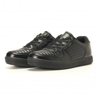 Мъжки черни кецове с допълнителни шевове it020617-7 4