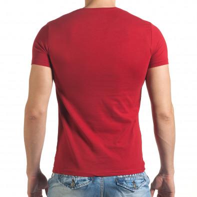 Мъжка червена тениска с рокерска щампа il140416-52 3
