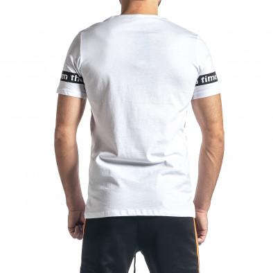 Мъжка бяла тениска White Black tr010221-9 3