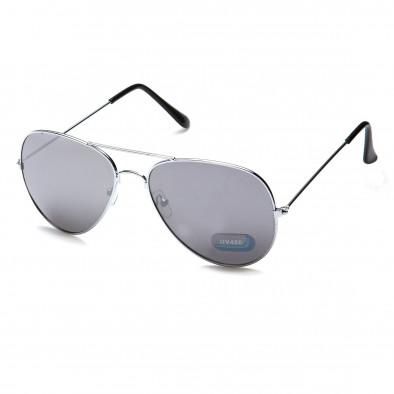Мъжки сиви авиаторски слънчеви очила Bright 3