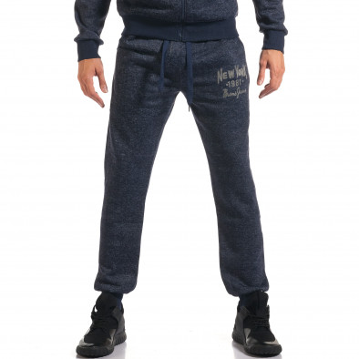 Мъжки син спортен комплект с надпис New York it210916-1 5