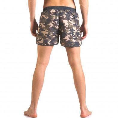 Мъжки бански шорти зелено-син камуфлаж ca050416-1 3