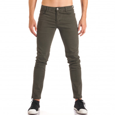 Мъжки зелен спортно-елегантен панталон it150816-5 2