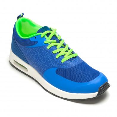 Сини мъжки маратонки с въздушни камери it210416-6 3