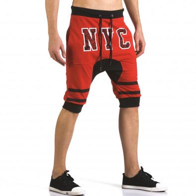 Мъжки червени къси потури NYC it110316-87 4