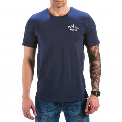 Мъжка синя тениска с птици на гърба Catch 4