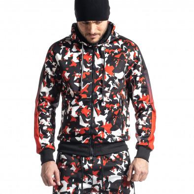 Мъжки черно-червен анцуг All over print it010221-51 4