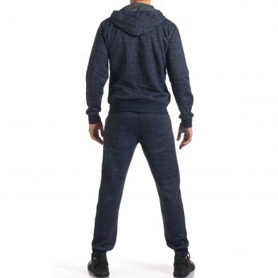 Мъжки син спортен комплект с надпис New York it210916-1 3