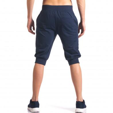 Мъжки сини къси потури със странични джобове it250416-12 3