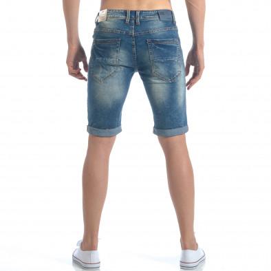 Мъжки къси дънки с навиване на крачолите it050617-31 3
